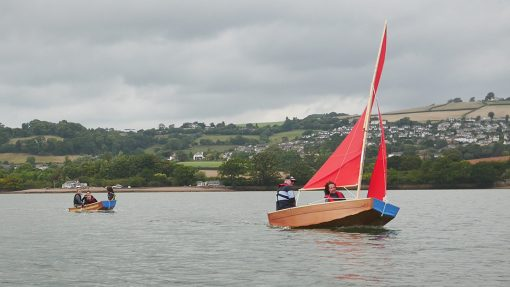 Having fun sailing and motoring on the estuary