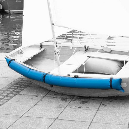 custom made dual purpose side air fenders in blue for seahopper boats