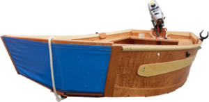 seahopper portable boat with blue PVC ends