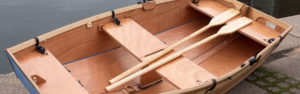 seahopper folding wooden row boat aerial view