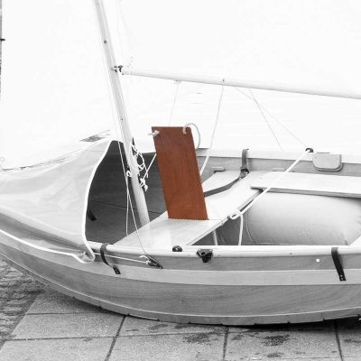 handmade wooden daggerboard for seahopper folding boats
