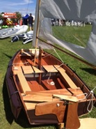 Beautiful Seahopper Kondor sailing boat with brown ends